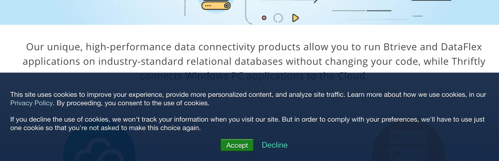 The Mertech cookies notice hyperlinks to our complete Privacy Policy
